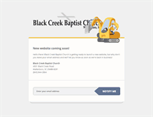 Tablet Preview of blackcreekbaptist.org